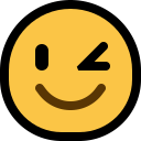 winking smiley face